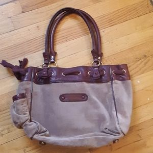 JUICY COUTURE BROWN VELVETY SOFT LARGE  TOTE